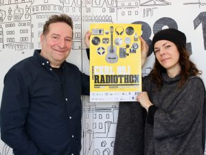 Photo : Alain Slythe et Catherine Durand, porte-paroles du Radiothon 2017